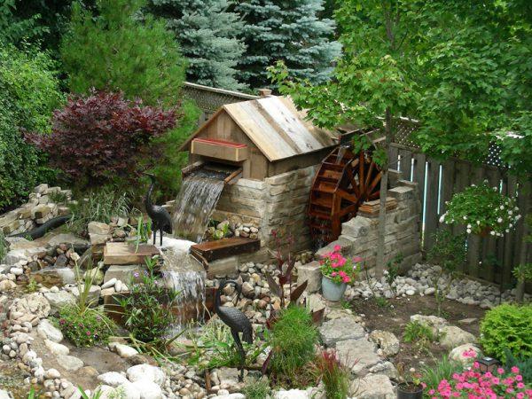 Ponds, rock gardens