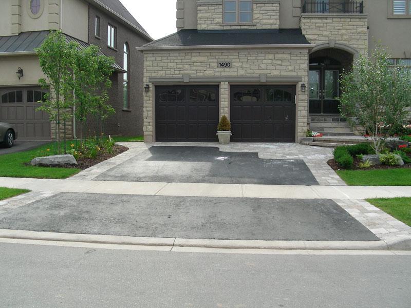 Interlocking Driveway, landscaping