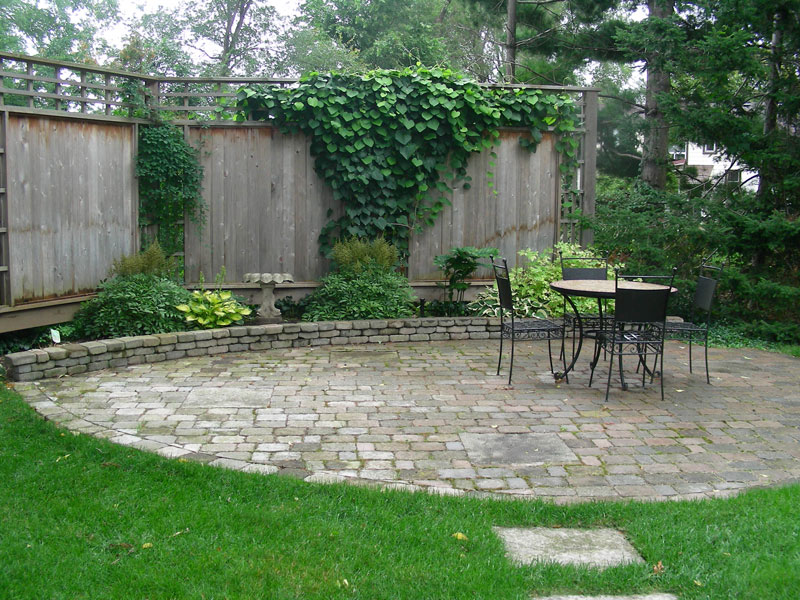 Interlocking Patio, Privacy Fence