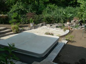 Interlocking Patio, Rock Gardens, Pond