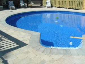 pool coping landscaping