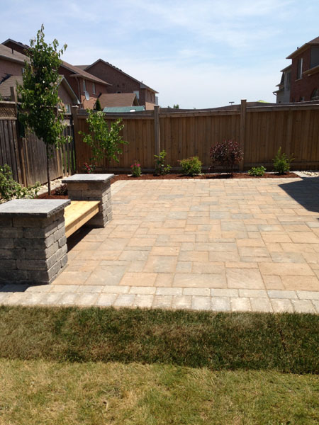Pool Stone Patio Interlocking Landscaping