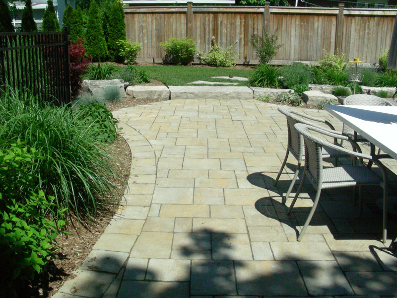 Stone Patio Interlocking Garden Landscaping, Fences