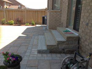 Steps Stone Patio Interlocking Landscaping