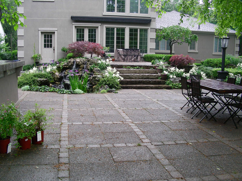 Stone Patio Interlocking, stone steps Garden Landscaping