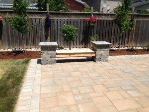 Stone Patio Interlocking, Fences Landscaping