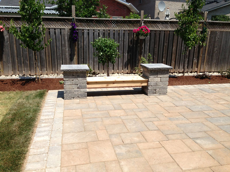 Stone Patio Interlocking, Fences Landscaping