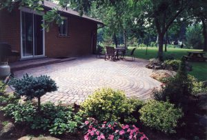 Stone Patio Interlocking Garden Landscaping