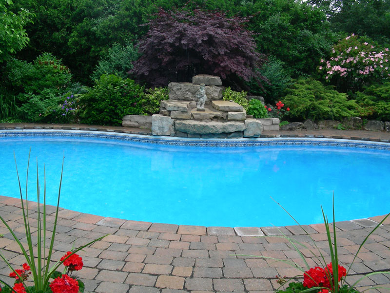 Pool Water Falls Landscaping