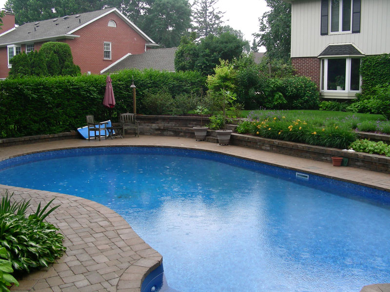 Inground Pool Landscaping Retaining Wall