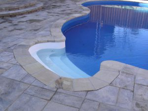 Pool Landscaping Stone Coping