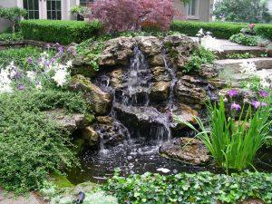 rock garden landscaping, water falls
