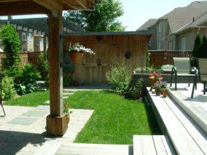 wood trellis, backyard sheds