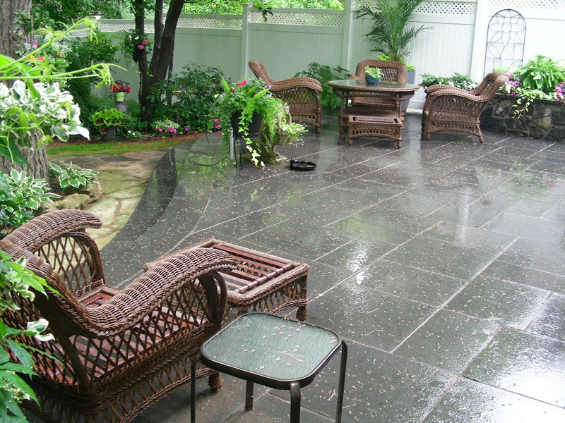 Landscaping Interlocking patio