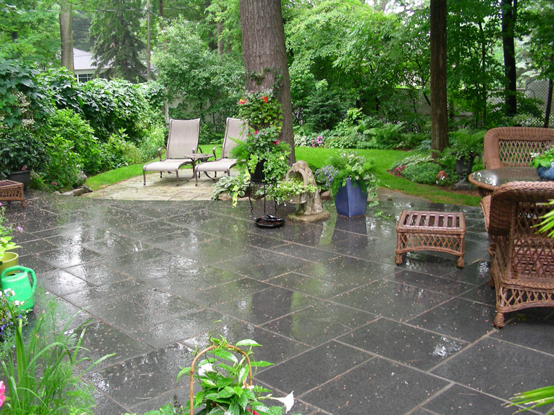Landscaping Interlocking patio, Garden