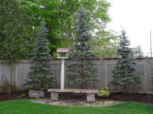 wood fences, landscaping
