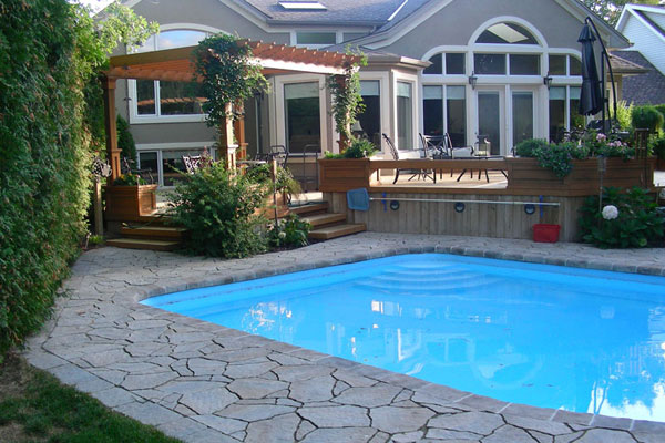 Pool Coping, Stone Interlocking Landscaping