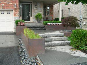 Stone Steps walkway Interlocking Landscaping