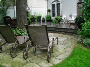 Landscaping Interlocking patio