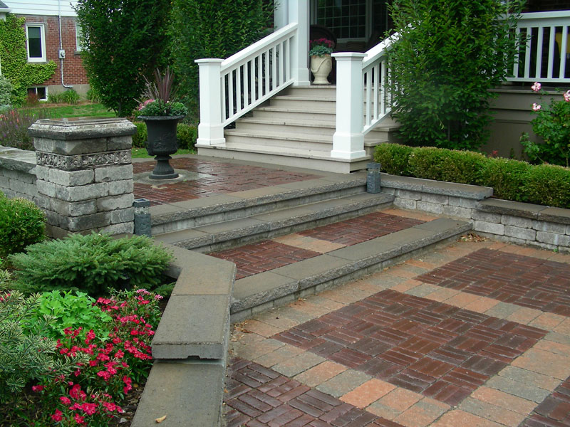 Stone Steps walkway Interlocking Landscaping