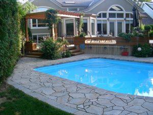 pool coping landscaping decks