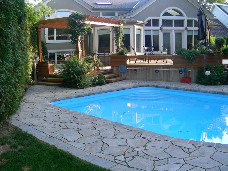 pool coping landscaping decks
