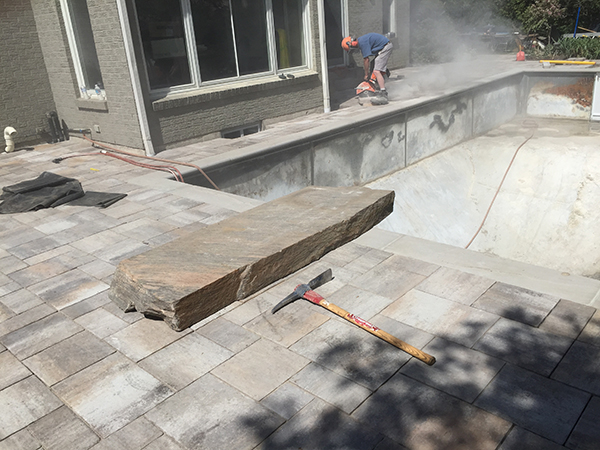 Pool Coping, Interlocking Patio, landscaper