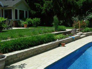 pool coping landscaping retaining walls