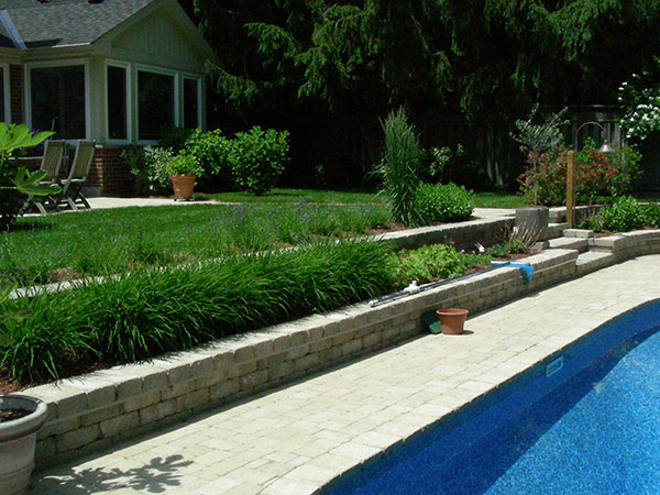 pool coping landscaping retaining walls