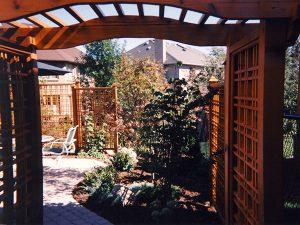 wood trellis, gazebos landscaping